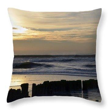 Morning Ocean Rockaway Beach 3 Throw Pillow