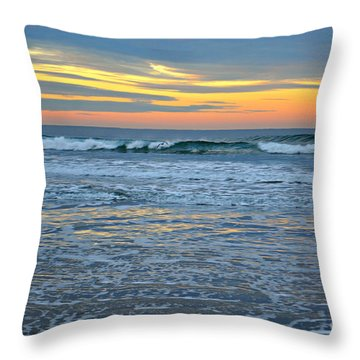 Morning Ocean Sunrise Throw Pillow by Mindy Bench