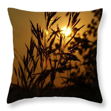 Morning On Bisbee Mountain Throw Pillow