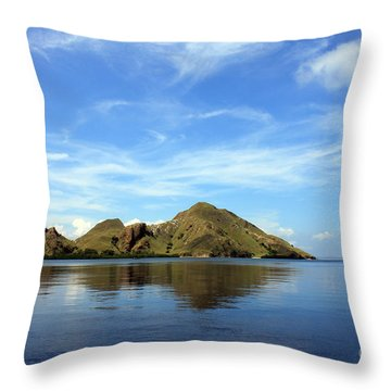 Morning On Komodo Throw Pillow by Sergey Lukashin