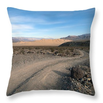 Morning On Steele Pass Throw Pillow by Joe Schofield