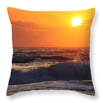 Morning On The Beach Throw Pillow by Bruce Bley