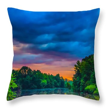 Morning On The Lake Throw Pillow