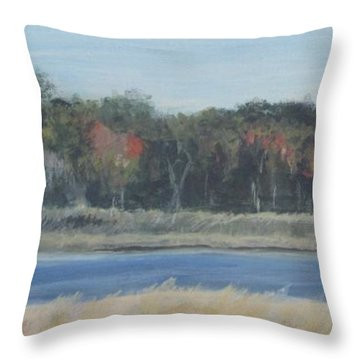 Morning On The Maurice River Throw Pillow