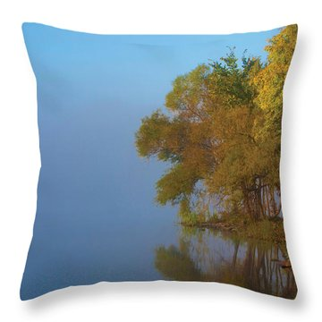 Morning On The Saganashkee Throw Pillow