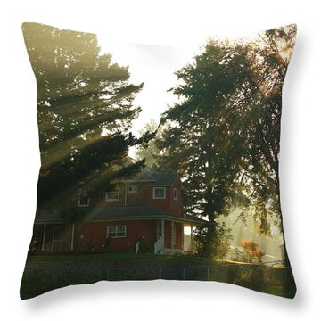 Throw Pillow featuring the photograph Morning Rays by Lynn Hopwood