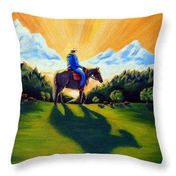 Morning Rounds Throw Pillow