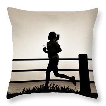 Morning Run Throw Pillow
