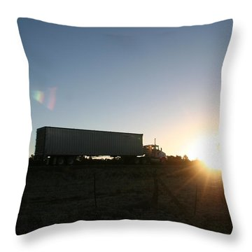Throw Pillow featuring the photograph Morning Run by David S Reynolds