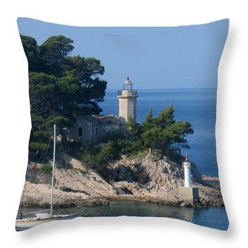 Morning Sail Throw Pillow