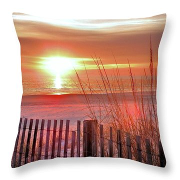 Morning Sandfire Throw Pillow by Kim Bemis