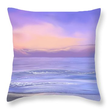 Morning Sea Breeze Throw Pillow by Anthony Fishburne