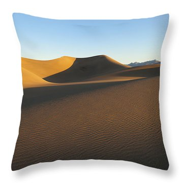 Throw Pillow featuring the photograph Morning Shadows by Joe Schofield