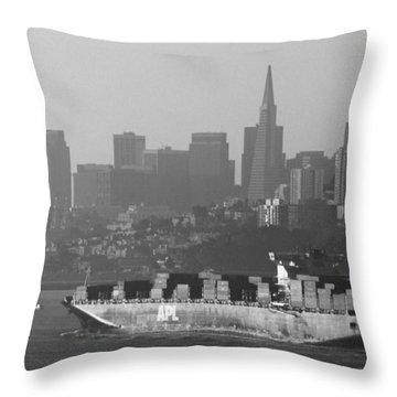 Morning Shipment Throw Pillow