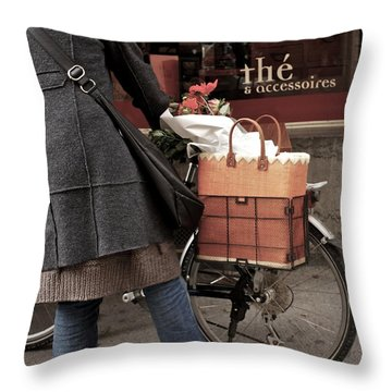 Throw Pillow featuring the photograph Morning Shopping by Colleen Williams