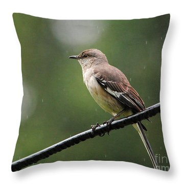 Morning Shower Throw Pillow
