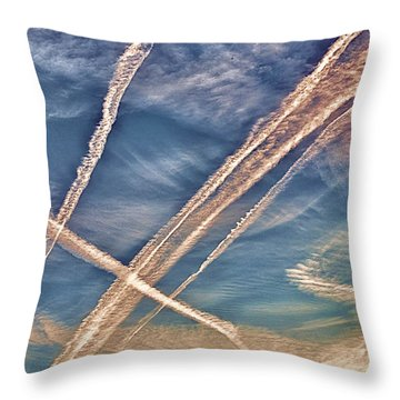 Morning Sky Throw Pillow by J Riley Johnson