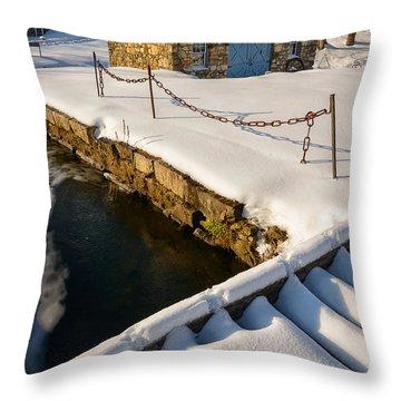 Morning Snow Throw Pillow