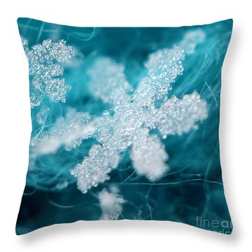 Morning Snowflake Throw Pillow