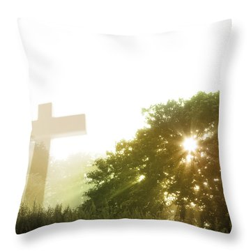 Morning Spirit Throw Pillow by Les Cunliffe