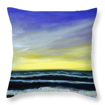 Morning Star And The Sea Oceanscape Throw Pillow