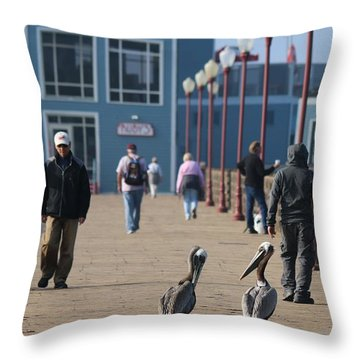 Morning Stroll  Throw Pillow by Christy Pooschke