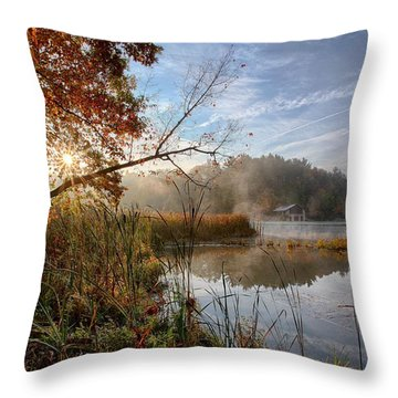 Morning Sun Throw Pillow by Daniel Behm
