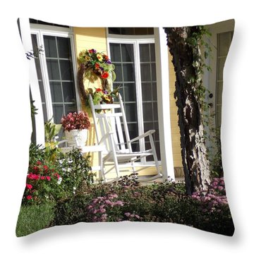 Throw Pillow featuring the photograph Morning Sun by John Glass