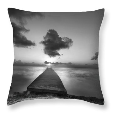 Morning Sunrise By The Dock Throw Pillow by Dan Friend