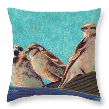Morning Sunshine Throw Pillow by Tracy L Teeter