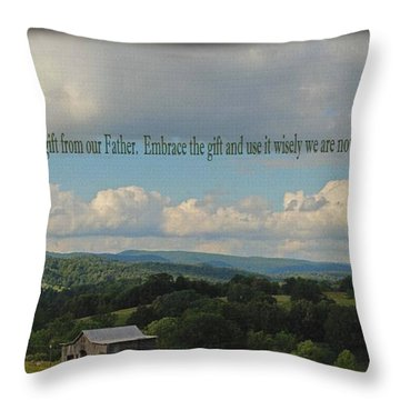 Morning Thanks Throw Pillow