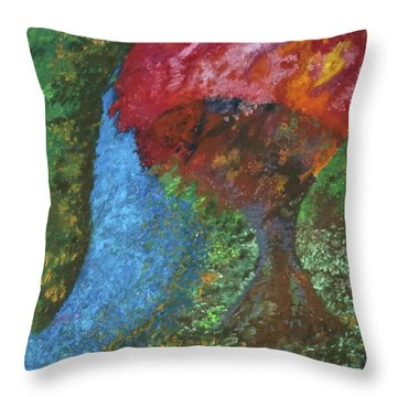 Morning Tree Throw Pillow