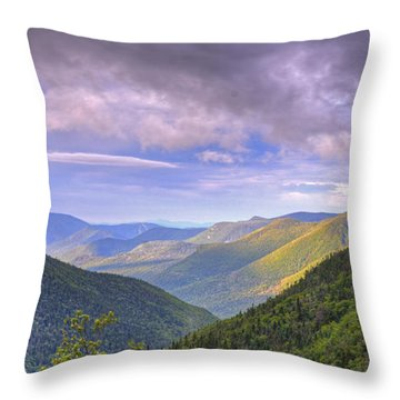 Morning View From Galehead Hut Throw Pillow
