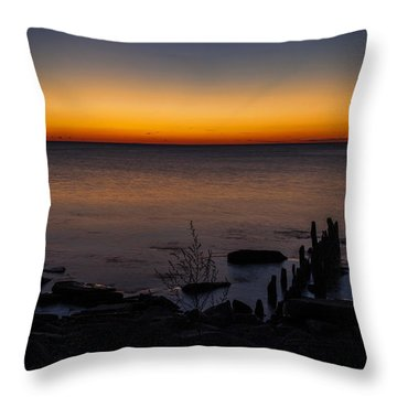 Morning Water Colors Throw Pillow by CJ Schmit