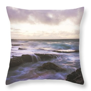 Morning Waves Throw Pillow by Brian Harig
