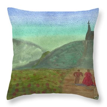Morning Worship Throw Pillow