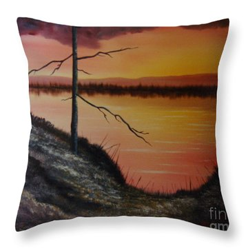 Throw Pillow featuring the painting Morning Yes by Stuart Engel