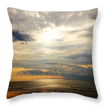 Morning Glory 2 Throw Pillow by Caz' Seize the momento A
