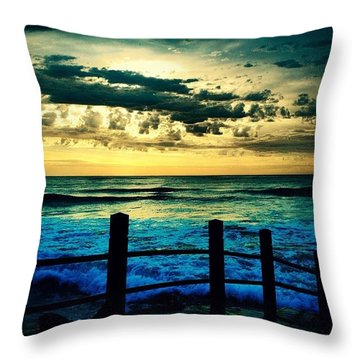 Tides In Throw Pillow