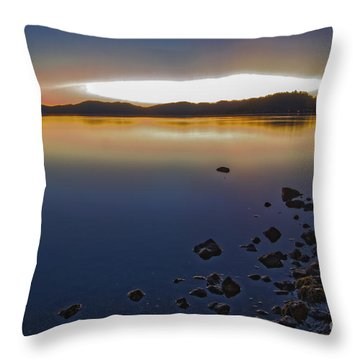 Throw Pillow featuring the photograph Mornings Kiss by Mitch Shindelbower