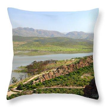 Moroccan Countryside 1 Throw Pillow