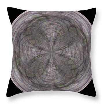 Morphed Art Globe 26 Throw Pillow by Rhonda Barrett