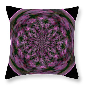 Morphed Art Globe 28 Throw Pillow by Rhonda Barrett
