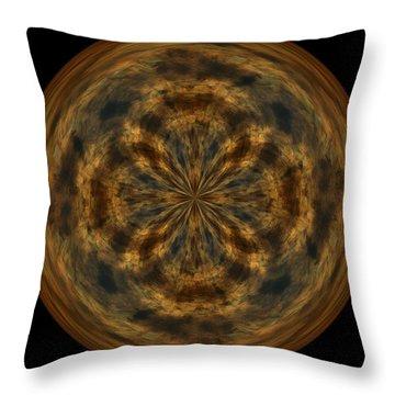 Morphed Art Globe 29 Throw Pillow by Rhonda Barrett