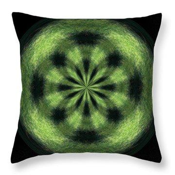 Morphed Art Globe 35 Throw Pillow by Rhonda Barrett