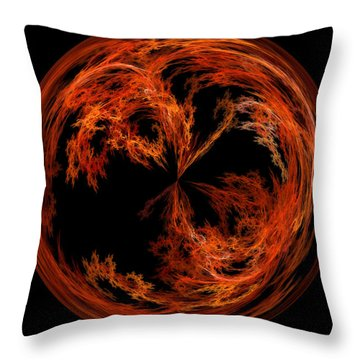 Morphed Art Globe 37 Throw Pillow by Rhonda Barrett