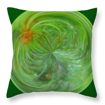 Morphed Art Globe 5 Throw Pillow by Rhonda Barrett