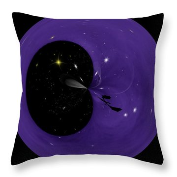 Morphed Art Globe 6 Throw Pillow by Rhonda Barrett