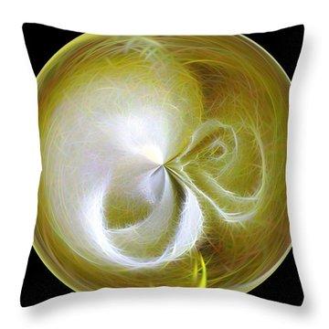 Morphed Art Globe 8 Throw Pillow by Rhonda Barrett