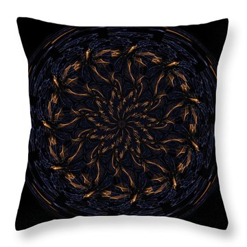 Morphed Art Globes 14 Throw Pillow by Rhonda Barrett
